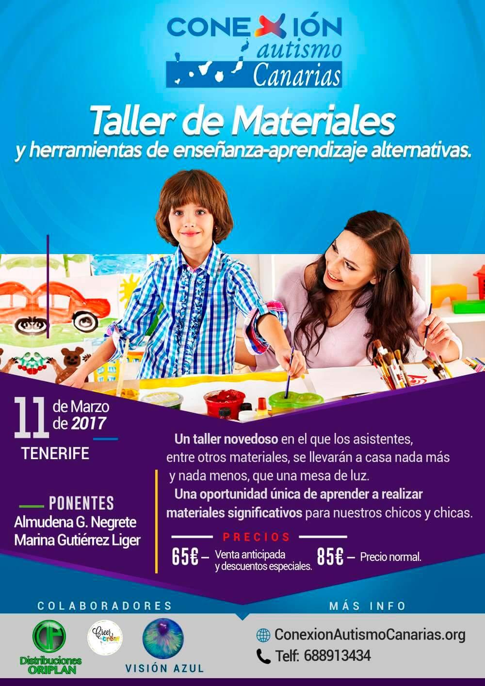 Cartel taller materiales Tenerife