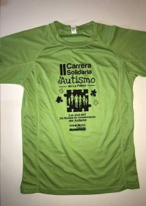 camiseta carrera autismo 2017