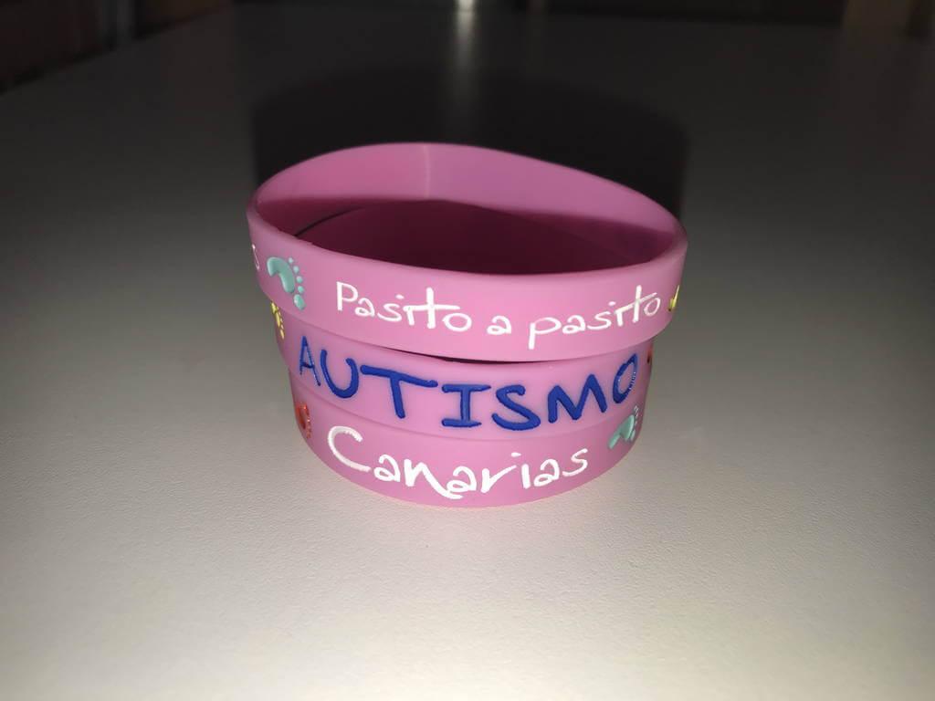 Pulsera rosada Conexión Autismo Canarias