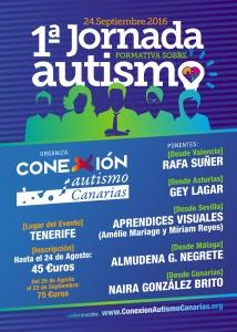 Cartel I Jornada formativa Autismo en Tenerife