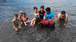 Terapia asistida con perros en La Gomera
