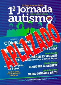 Aplazada I Jornada Formativa Autismo Tenerife