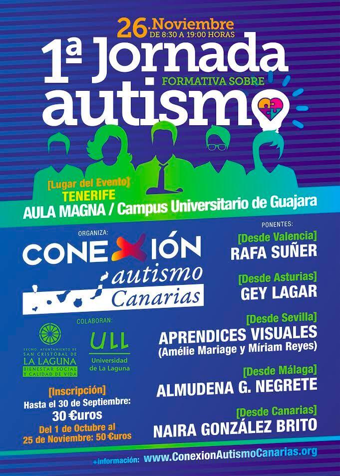 1ª Jornada formativa sobre Autismo de Conexión Autismo Canarias