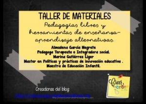 inscripción Taller materiales Tenerife