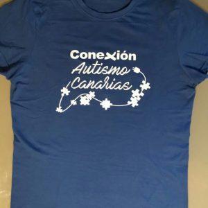 Camiseta Conexión Autismo Canarias frontal