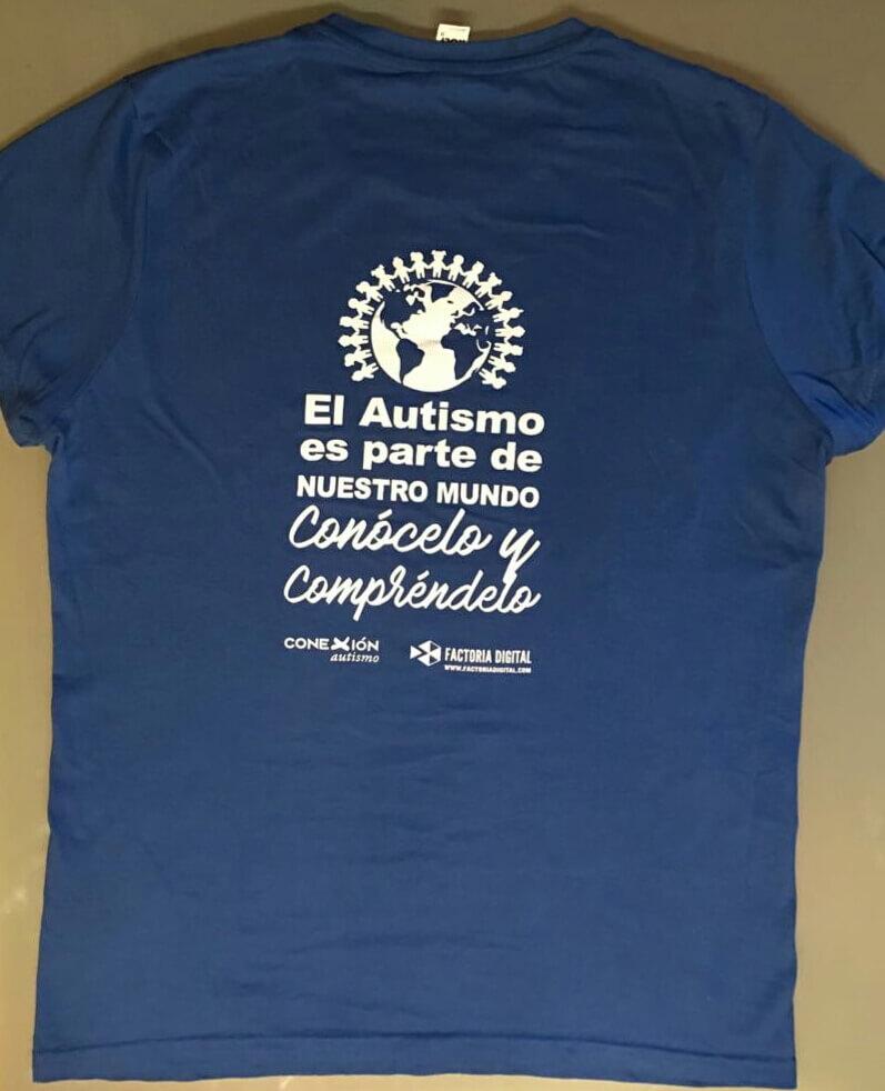 Camiseta Conexión Autismo Canarias trasera