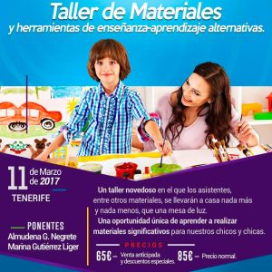 Cartel taller materiales Tenerife