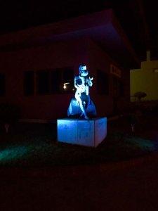 Alumbrado azul en el Ayuntamiento de Breña Baja