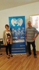 Naira con el Sr. Real en la charla del British School Tenerife