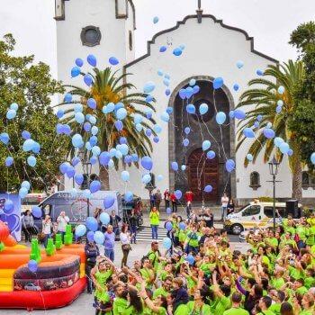 Lazo y suelta de globos Carrera Autismo La Palma