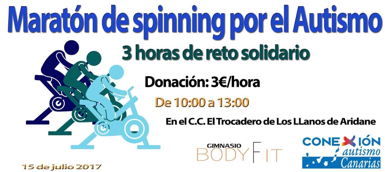 Maratón spinning por el autismo Tenerife