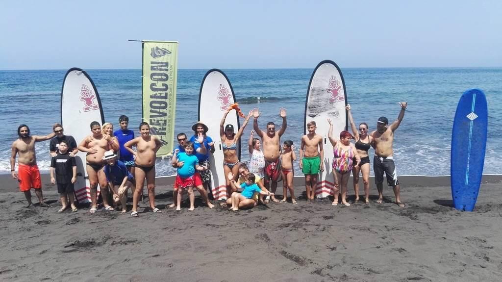 Conexión Autismo Canarias Surf en La Palma