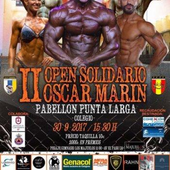 cartel II Open Solidario Oscar Marín