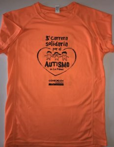 camiseta carrera autismo La Palma 2018